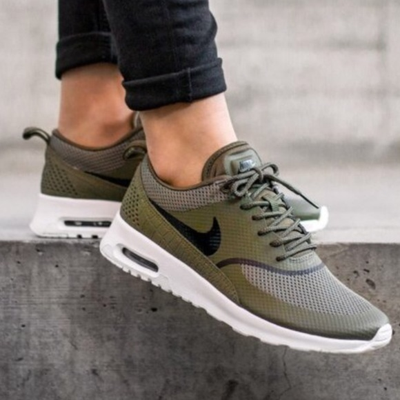Nike Air Max Thea Women's Olive Green White in 2019